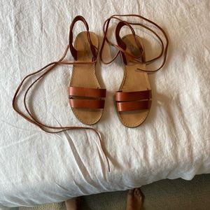 Madewell size 6 cognac sandals